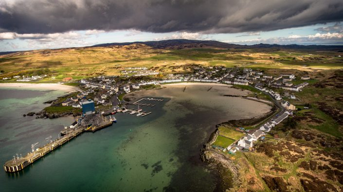 Gruinart Farmhouse Photo Gallery - Islay Holiday Home - Port Ellen Aerial View