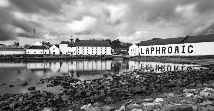 Gruinart Farmhouse Photo Gallery - Islay Holiday House - Lapharoig Distillery on the Isle of Islay - Long exposure photo by George French